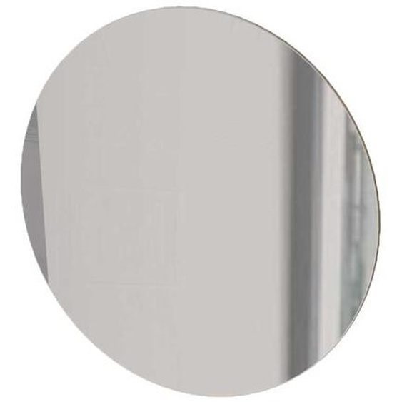 Glasspiegel in Silberfarben rund