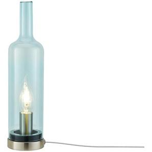 Glastischleuchte in Flaschenform ¦ blau Ø: 10