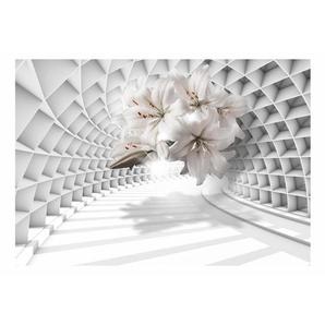 Glatte Fototapete Flowers in the Tunnel