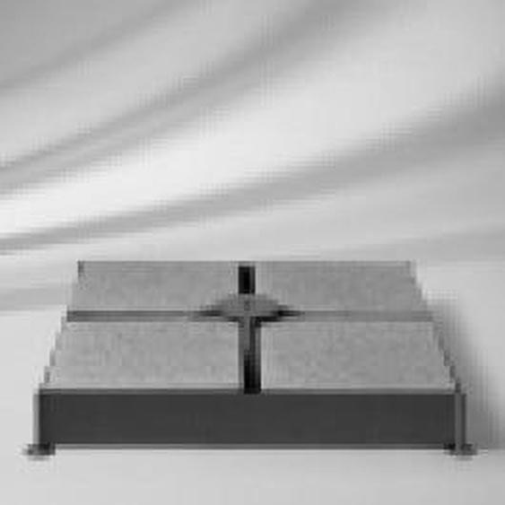 Glatz Gartenplatten gemischt 40x40x4 cm, 8 Beton/4Granit für Schirmsockel M4-12 Platten Dunkelgrau
