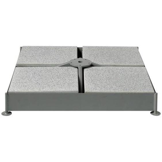 Glatz Schirmsockel M4 für 12 Platten - verzinkt 91x91x15 cm - ohne Platten - ohne Standrohr Hellgrau