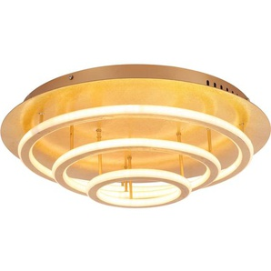 Globo LED-Deckenleuchte Arryn Blattgold EEK: A