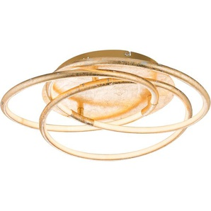 Globo LED-Deckenleuchte BARNA Aluminium Goldfarben EEK: A