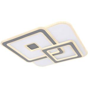 Globo LED-Deckenleuchte, Weiß, Alu, Eisen, Stahl & Metall