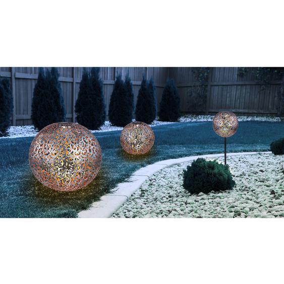 Globo LED-Solarkugel Silber H: 40 cm 0,06 W