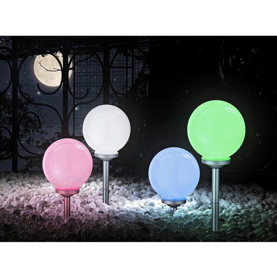 Globo LED-Solarspieß mit Kugel RGB