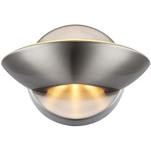 Globo LED-Wandleuchte SAMMY Nickel matt EEK: A