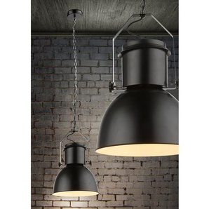 Globo Lighting Pendelleuchte Kutum I Metall Schwarz Industrial Rund Ø 26,5 cm 1-flammig E27