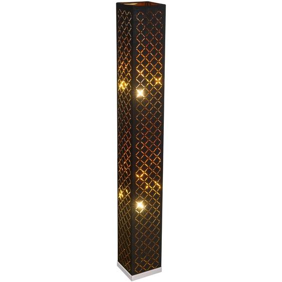 Globo Stehlampe, Gold, Stoff