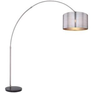 Globo Stehlampe, Silber, Alu, Eisen, Stahl & Metall