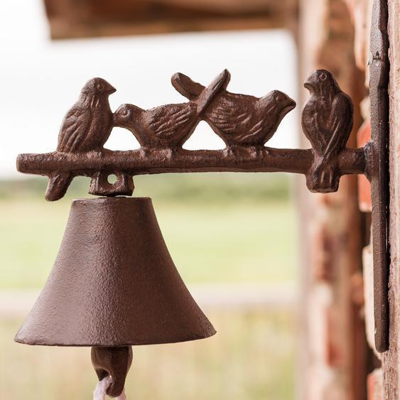 Glocke für Landhaus, Türglöckchen mit Vögelchen, Gartenglocke mit Vögel
