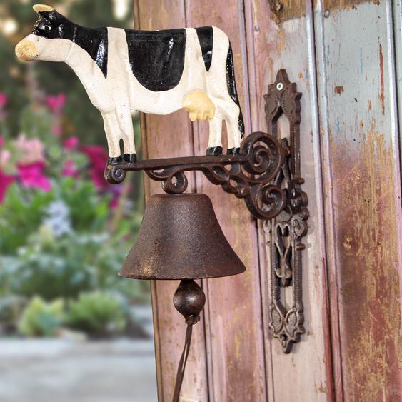 Glocke für Landhaus und Hof, Türglocke mit großer Kuh, Gartenglocke, Kuh