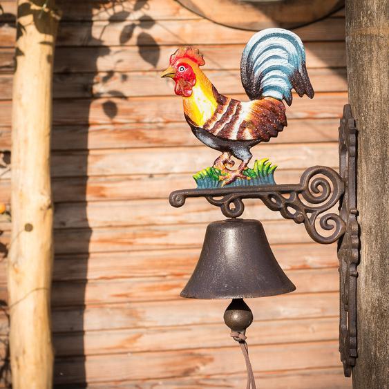 Glocke für Landhaus und Hof, Türglocke mit Hahn, Gartenglocke mit schönem Klang