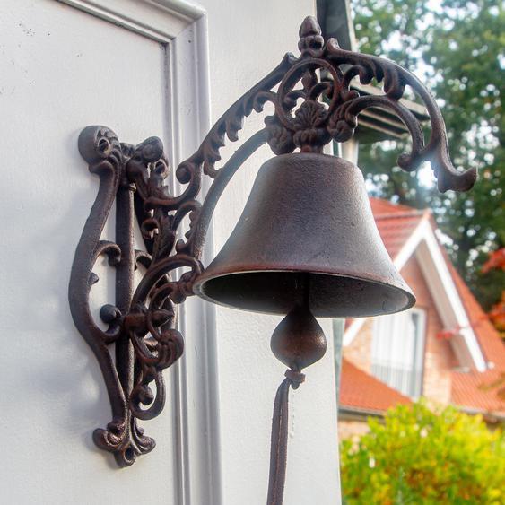 Glocke Gartenglocke im Landhausstil Türglocke mit schönem Haltearm -toller Klang