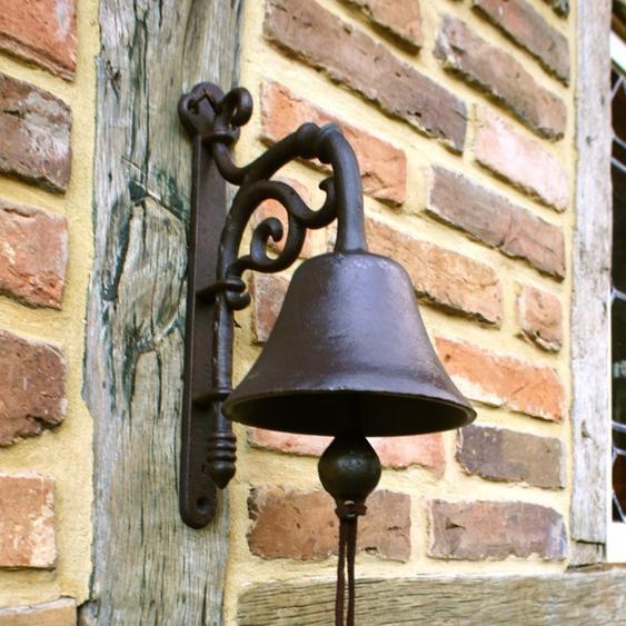 Glocke historische Gartenglocke, an der Haustür wie antik + mit tollem Klang