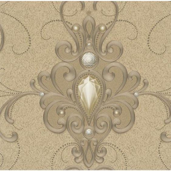 Glööckler Vliestapete Imperial Florale Ornamente Gold