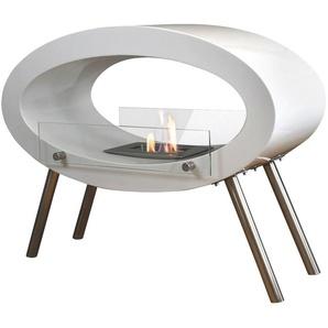 GLOW FIRE Echtfeuer-Dekokamin Molde B/H: 80 cm x 64,1 weiß Ethanol-Kamine Heizen Klima