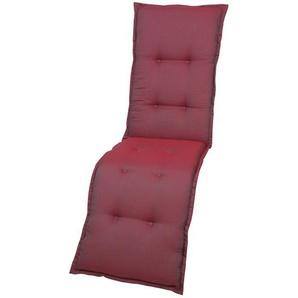 GO-DE Auflage  Red Shiny ¦ rot ¦ 100% Polyester ¦ Maße (cm): B: 50 H: 7