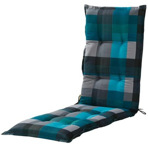 Relaxauflage  Iris ¦ blau ¦ Druckstoff, 50% Baumwolle, 50% Polyester ¦ Maße (cm): B: 50 H: 7