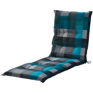 Liegenauflage  Iris ¦ blau ¦ Druckstoff, 50% Baumwolle, 50% Polyester ¦ Maße (cm): B: 60 H: 7