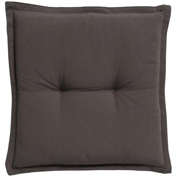 GO-DE Hockerauflage  Torba - grau - garngefärbtes Uni, 60% Baumwolle, 40% Polyester | Möbel Kraft