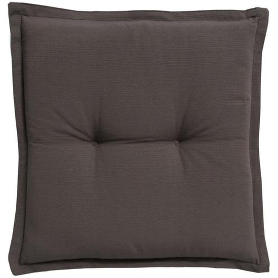 GO-DE Hockerauflage  Torba | grau | garngefärbtes Uni, 60% Baumwolle, 40% Polyester |