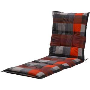 GO-DE Liegenauflage | rot | Druckstoff, 50% Baumwolle, 50% Polyester | 60 cm | 7 cm |