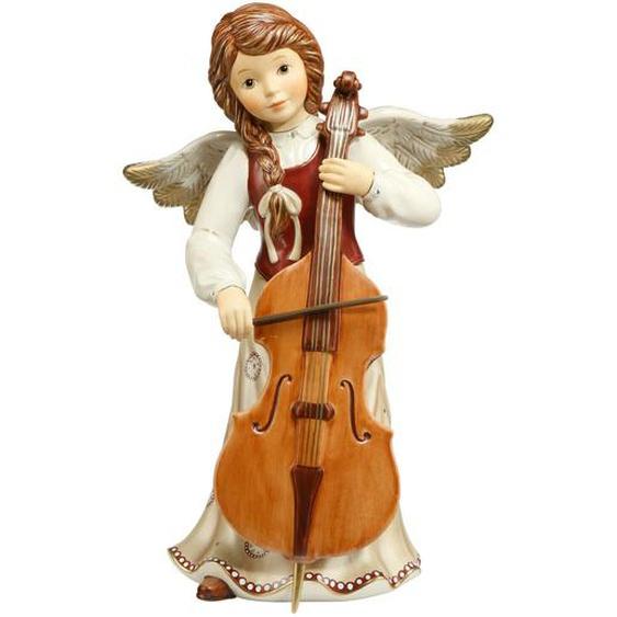 Goebel Engel Mit Baßgeige Himmlische Sinfonie 49cm Pearly Gleam
