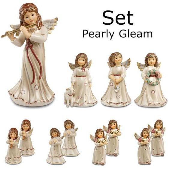 Goebel Engelfiguren-set Engel Figur Deko 12-tlg. Steingut Pearly Gleam