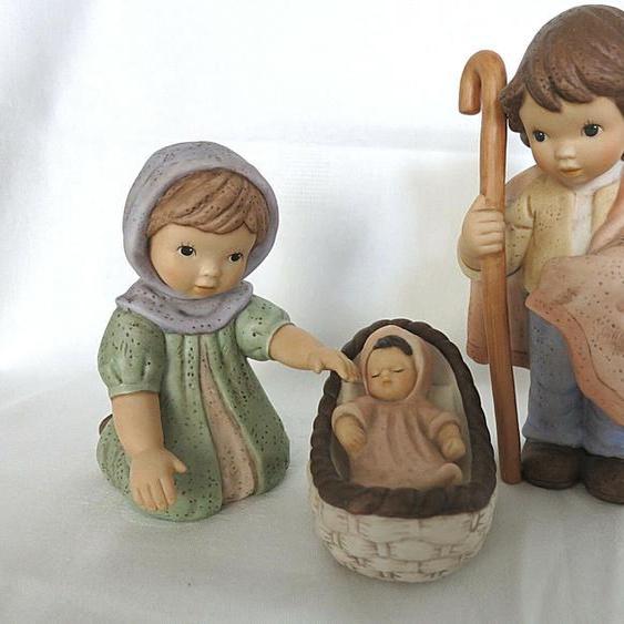 Goebel N & M Krippe Maria Josef Jesuskind Heilige Familie