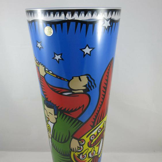 Goebel Porzellan Burton Morris All That Jazz Vase Pop Art Artis Orbis