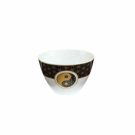 Goebel Yin Yang Teelicht Schwarz Neu Blume Des Lebens Deko Schälchen