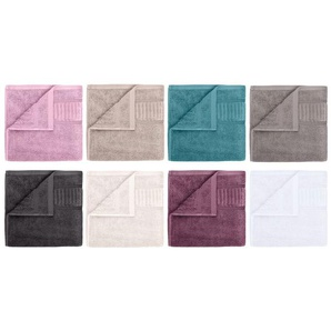 Gözze Handtuch, 50 x 100 cm, reine Bio-Baumwolle, mit Bordüre und Kordelaufhänger, hochwertige Qualität