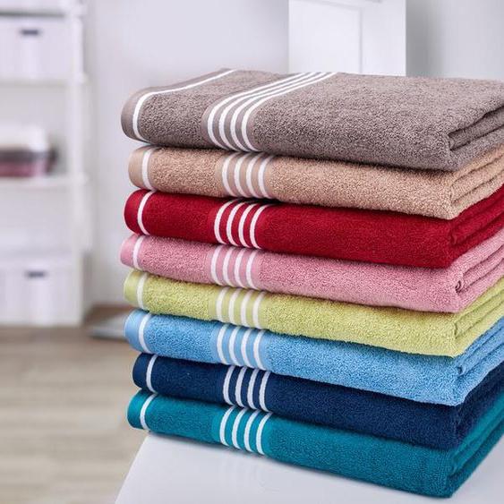 Gözze Handtuch »Rio«, reine Baumwolle, mit Bordüre und Kordelaufhänger, hochwertig