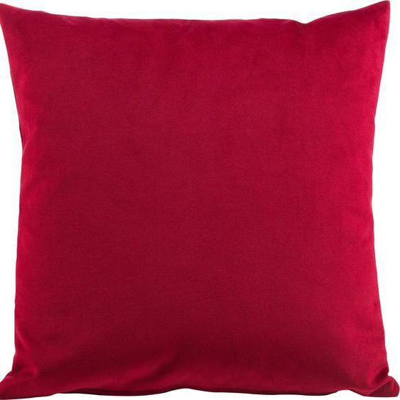Gözze Kissenhüllen Duval, (2 St.), mit Reißverschluss 2x 50x50 cm, Polyester rot Kissenbezüge uni Kissen