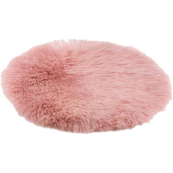 Gözze Stuhlkissen Stuhlauflage, aus echtem Schaffell 1x 38x38 cm, rosa Sitzkissen Kissen Kopfkissen
