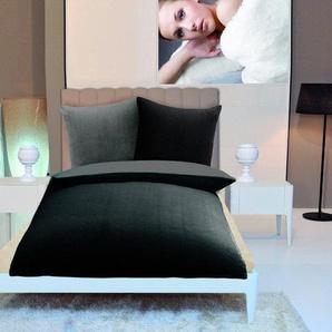 Gözze Wendebettwäsche »Superflausch«, 135x200 cm, schwarz