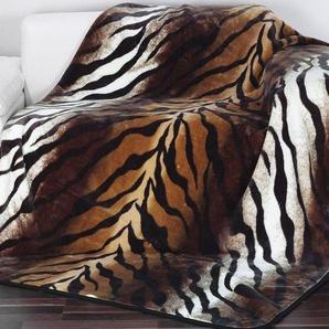 Gözze Wohndecke »Königstiger«, 150x200 cm, pflegeleicht, trocknergeeignet, braun