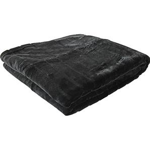 Goldmond Wohndecke »Nerz«, 150x200 cm, hautfreundlich, schwarz