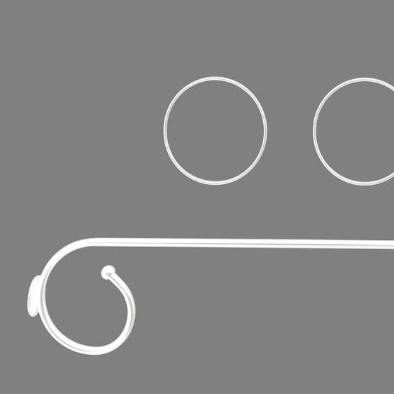 Good Life Himmelbettgarnitur Antonia, mit 2 Deko-Ringen B/L: 25 cm x 80 weiß Himmelbetten Zubehör Betten