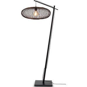 GOOD&MOJO Stehlampe Cango, E27 Ø 60 cm Höhe: 176 schwarz Bogenlampen Stehleuchten Lampen Leuchten