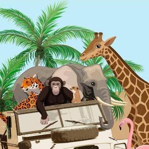 Strandtuch »Jeep Jungle«, good morning, mit Dschungeltieren