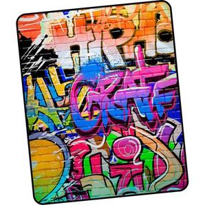 Good Morning Wohndecke »Graffity«, 130x160 cm, bunt