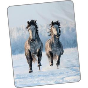 Good Morning Wohndecke »Snowhorses«, 130x160 cm, bunt