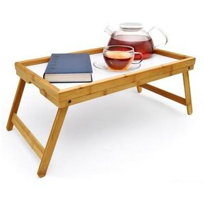 Goods+Gadgets Tabletttisch »Frühstückstablett Bambus Bett-Tablett«, Serviertablett Betttisch