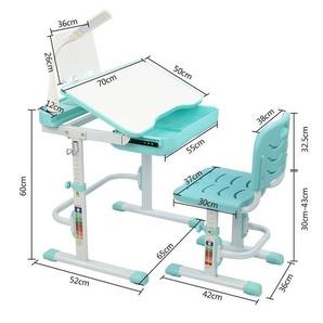 Gotui Schreibtisch, Arbeitstisch und Stuhl Hubtischplatte neigbar mit Lesegestell USB-Schnittstelle Schreibtischlampe