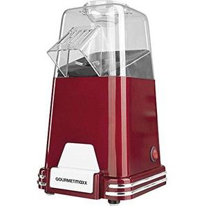 Gourmet Maxx Popcorn-Maschine 1100W in Design Retro Nostalgie (Zubereitung von Luftzirkulation Warm–ohne Öl, Extra Schnell in nur 2–4Minuten, wählbar Süßes oder Salziges Popcorn)