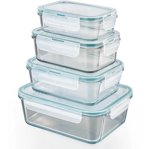GourmetMaxx Glas-Frischhaltedosen Klick-it 8-teilig