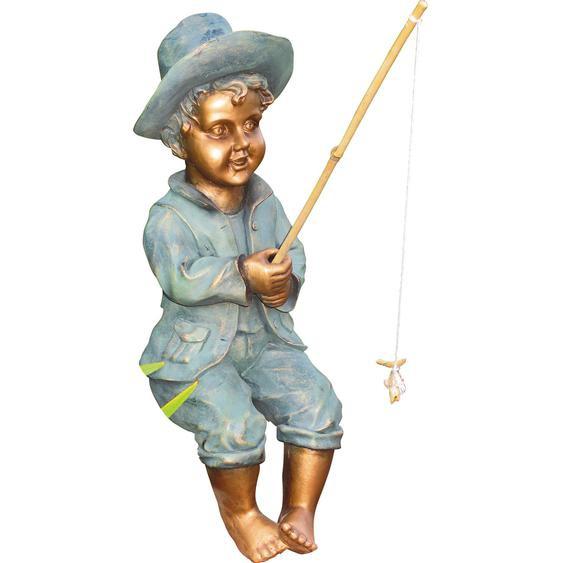 Granimex Gartendeko Figur Angler Theo Polyresin Bronze 23x18x53 cm