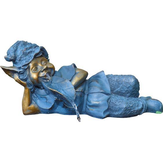Granimex Wasserspeier Pan Wasspeier Polyresin Bronze 21x21x48 cm